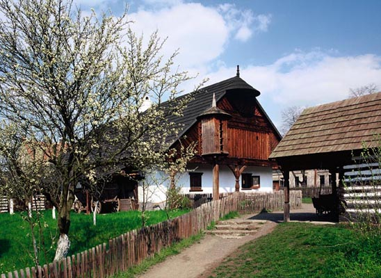 The Pierov nad Labem Open-air Museum of Folk Architecture, Central Bohemia, Tschechien