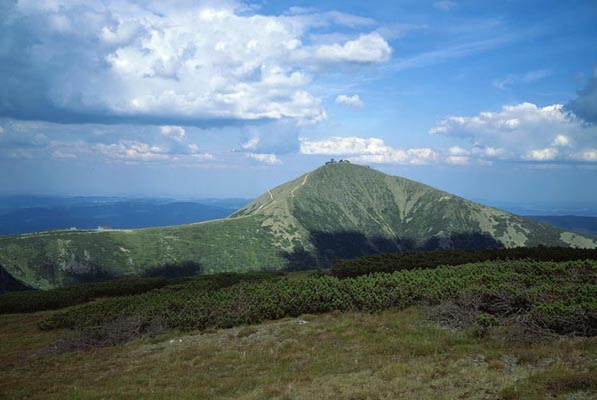 Snezka, the highest mountain in Czechia, The Krkonose Mountains, Tschechien