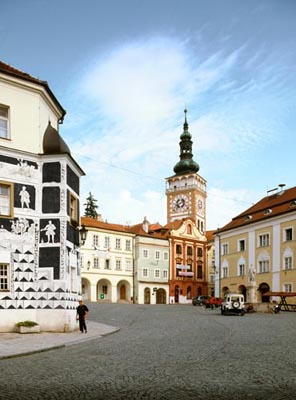 The town of Mikulov, South Moravia, Tschechien