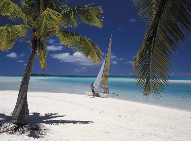 makelloser Strand, Cook Islands