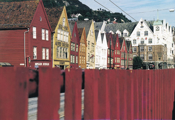 Bryggen towns cities old wooden architecture street culture houses city hanseatic buildings UNESCO\'s World Heritage List, Norwegen