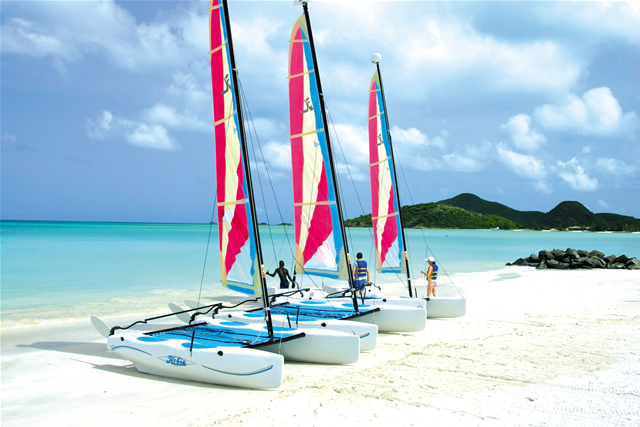 Hobie Cats at Jolly Beach, Antigua & Barbuda