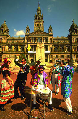 Glasgow, George Square, Schottland