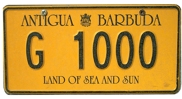 Nummernschild - Plate, Antigua & Barbuda