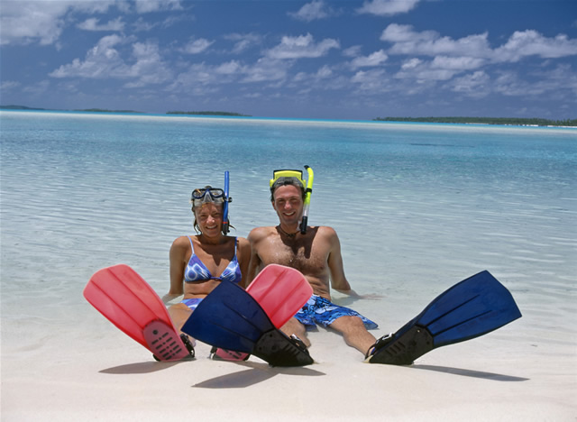 Relaxen am Strand, Cook Islands