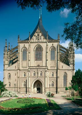 UNESCO, Kutna Hora, St Barbara\'s Church, Central Bohemia, Tschechien